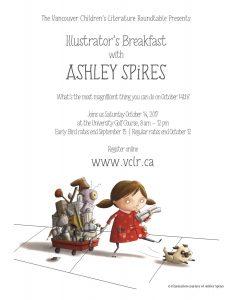 Annual VCLR Illustrator's Breakfast featuring Ashley Spires, October 14, 2017