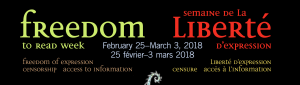 Freedom to Read Week – February 25-March 3 2018