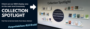 Collection Spotlight:  New display area at Education Library is up!