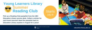 Young Learners Library Summer Reading Club starts July 8