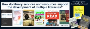 September Display and Workshops: How do library services and resources support the development of multiple literacies?